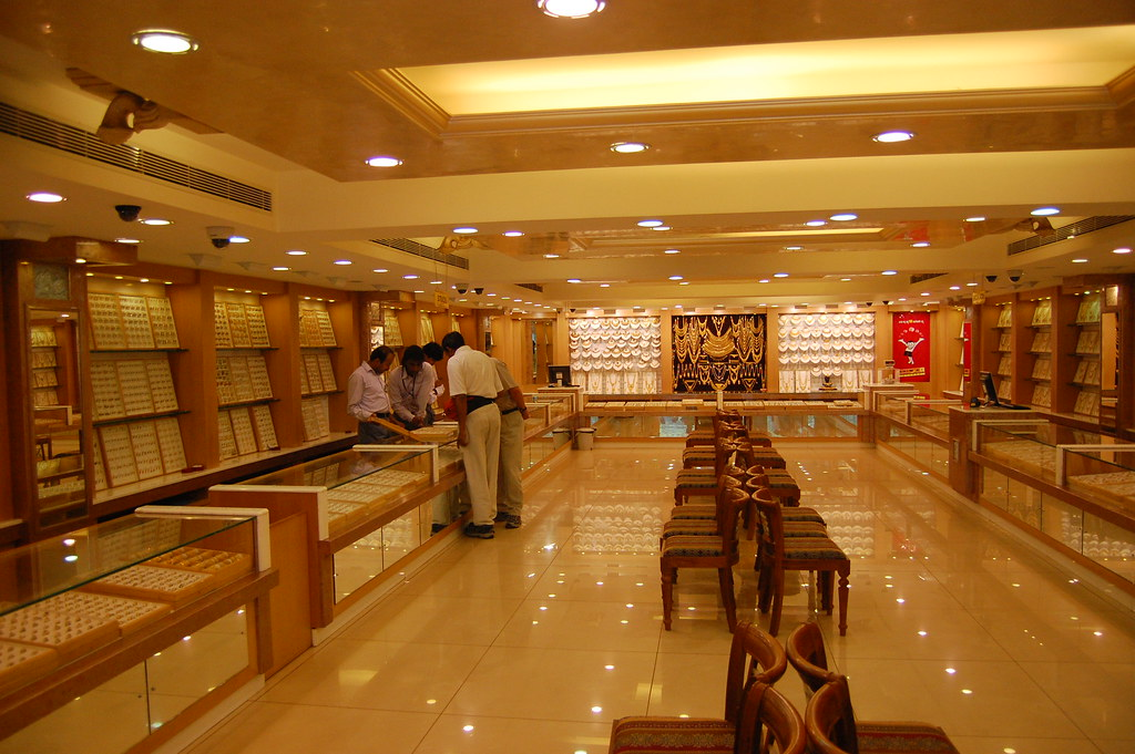 1st Floor of Typical Mysore Jewlery Store
