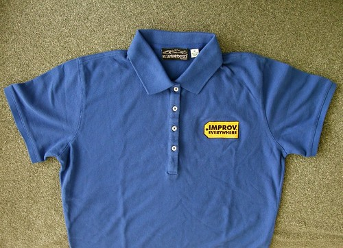 Improv Everywhere Best Buy Blue Polo Shirt