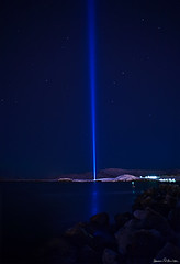 Imagine Peace Tower (hauxon) Tags: night iceland nightshot reykjavik yokoono viey mywinners imaginepeacetower