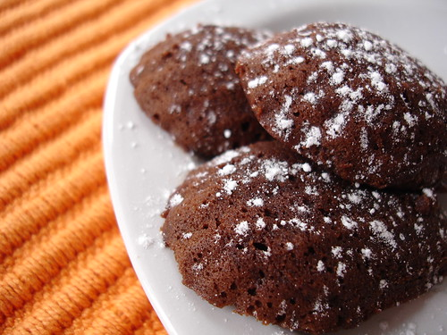 Dark chocolate madeleines