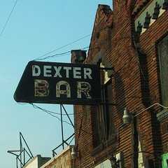 Abandoned Dexter Bar Sign in Downtown Detroit (DetroitDerek Photography ( ALL RIGHTS RESERVED )) Tags: old urban abandoned sign bar downtown neon decay michigan name urbandecay detroit rusty faded aged dexter 2007 motown