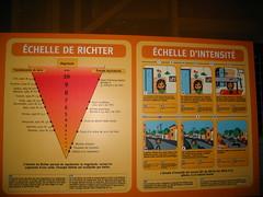 L'échelle de Richter, présentée au Palais de la Découverte, à Paris
