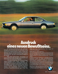 Reklame BMW 6er E24 (1977) (jens.lilienthal) Tags: advertising advertisement werbung anzeige reklame car cars auto autos voiture voitures bmw 6er e24 630 633 cs csi ad reclame amzeige zeitungsreklame vintage classic advert old older
