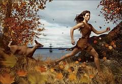 Pocahontas is ready to kick some white ass (neushen) Tags: autumn nature fairytale jessica ad disney deer nativeamerican dreams buff environment wish trim campaign pocahontas fit jessicabiel disneyprincesses yearofamilliondreams annielebovitz