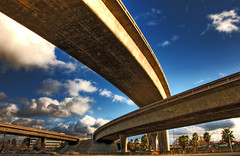 101 - 87 Shuffle (WarzauWynn) Tags: california blue sky urban usa northerncalifornia clouds nikon highway unitedstates sunday bridges sanjose overpass 101 cielo freeway sanfranciscobayarea sj siliconvalley roads   hdr 87  interchange santaclaracounty d300 nq       hdr5 20  danielhoherd datetaken:year=2008 danielaustinhoherd southsfbay 1144205mm  200 bg5r iso20041 datetaken:day=03 datetaken:minute=23 datetaken:second=23 datetaken:month=02 datetaken:hour=16 datetaken:dow=sunday datetaken:date=20080203