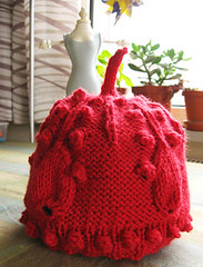 droplet hat, norah gaughan, knitting nature book, amazon.com, knitting book, hat, cap, knitting pattern, knitting project, himalaya yarn, efsun, 100% wool, felting, red