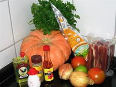 Ingredientes para a Carne de Sol na Moranga