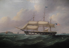 Packet Ship Berlin (Piedmont Fossil) Tags: art philadelphia painting ship pennsylvania independenceseaportmuseum