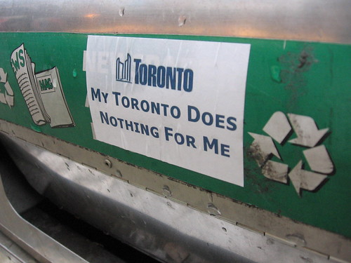 My Toronto Does Nothing for Me - sticker
