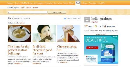 Yahoo Shine food