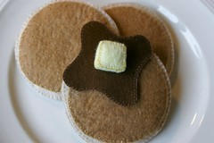 Felt Pancakes Spread Out (Pictures by Ann) Tags: art cooking wool kitchen pancakes project great waldorf creative cook fake craft sew felt butter chef faux imagination syrup montessori imaginary pretend fakefood woolfelt fauxfood naturalkids dramaticplay womanmade blanketstitched harvestmoonbyhand