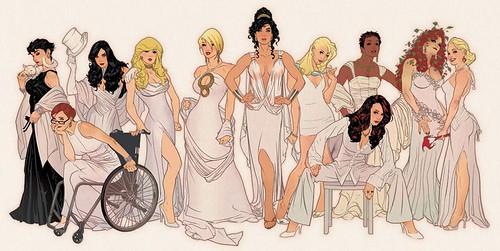 DC Babes (New York Con, Adam Hughes)