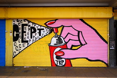Cept (HowAboutNo!) Tags: street urban london art graffiti stencil paint spray shutters freehand walls howaboutno