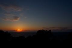 毘沙別からの夕陽