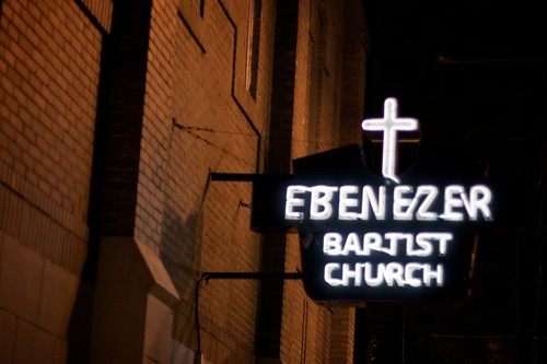 Atlanta at Night, Ebenezer Baptist Church - Martin Luther King Memoria