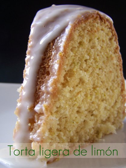 Torta ligera de limón