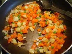 Sofriendo las verduras