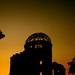 原爆ドーム:夕日の原爆ドーム Atomic Bomb Dome at sunset