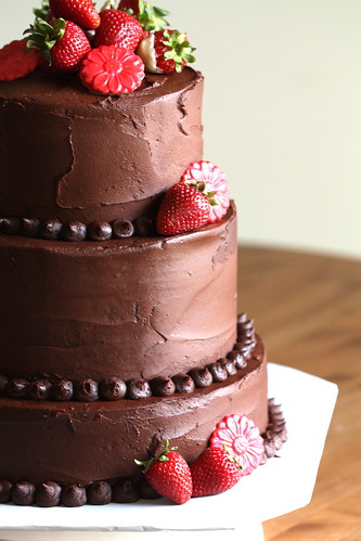 Double Chocolate Wedding Cake