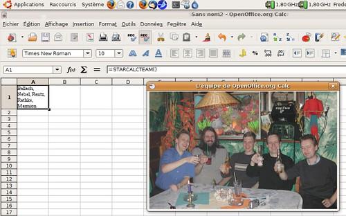 L'équipe d'OpenOffice.org Calc