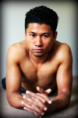 Mell #11 (just.Luc) Tags: shirtless portrait man male face asian european quote retrato uomo belgian portret burmese ritratto hombre picnik homme visage gezicht