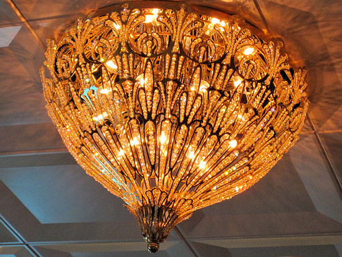 My favorite small chandelier.  It reminds me of a tiara.