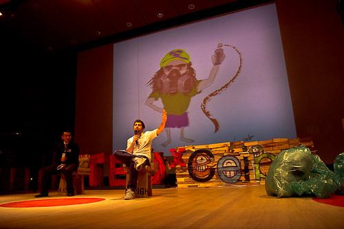 Juan Pablo Calderón para TEDXCeiba. Foto de Nicolás Felipe van Hemelryck 2011