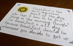 So true.. (ingridesign) Tags: true breakfast note meal important