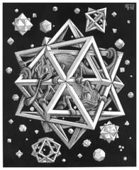 Escher_Stelle_xilografia su legno di testa_1948 (aurablu) Tags: escher