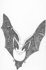 my halloween drawing! (Nisee Made) Tags: halloween bat drawings website favoritestories denisesimon lrcom