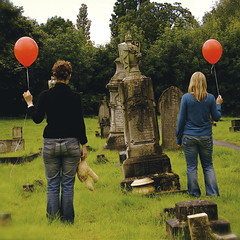 The red balloon diaries *7 (cattycamehome) Tags: girls halloween graveyard grass tag3 taggedout balloons dead death women poetry tag2 colours tag1 searchthebest teddy bright quote sleep cemetary balloon dream surreal graves dreams byron redballoon catherineingram flickrsbest mywinners october2007 cattycamehome diamondclassphotographer redballoondiaries soulsresonance