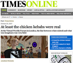 At least the chicken kebabs were real