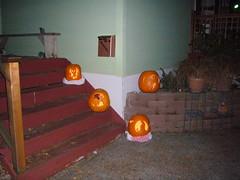 with flash (katychell) Tags: halloween jackolanterns