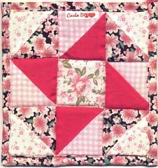 cata-vento (Carla Cordeiro) Tags: patchwork potholder hst etiqueta triângulo ninepatch