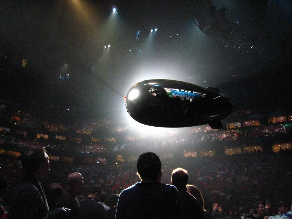 Van Halen Concert - Remote Controlled Helium Blimp