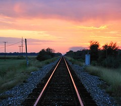 sunset line (edwardleger) Tags: railroad sunset parish louisiana tracks rail edward acadia leger crowley platinumphoto superhearts colourartaward edwardleger edwardnleger