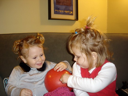 11/11/07 Matching crazy hair dos