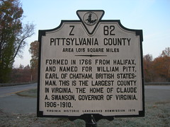 Pittsylvania County Historic Marker