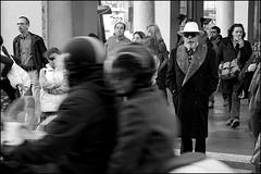 Torino 0069 (malko59) Tags: street people urban blackandwhite italy hat torino italia explore turin biancoenero cappello italians suba bwemotions italybw diecicento focuslegacy malko59 marcopetrino