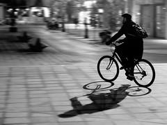 Tubular's Shadow (Haciendo clack) Tags: shadow blackandwhite españa blancoynegro night canon lafotodelasemana noche spain europa europe bicicleta sombra bn valladolid nocturna 30d castillayleón canon30d canonef24105mmf4lisusm haciendoclack temavalladolid ltytr2 ltytr1 temabicicletas lfs122007 misdiez bn052008 jesúsgonzálezlópez haciendoclackblog