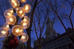 Sparkly Boston (cybersooz) Tags: christmas winter holiday lamp boston festive lights massachusetts newengland soe 2007 bans customhouse customhousetower abigfave shieldofexcellence