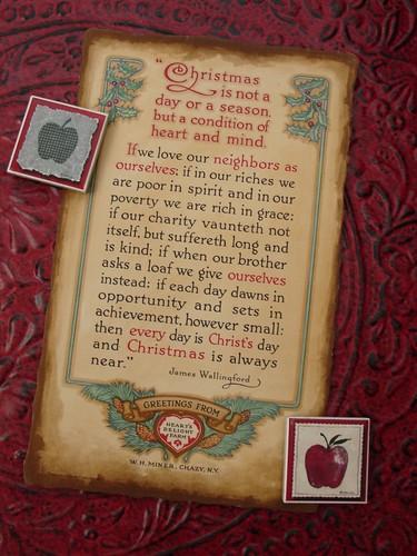 Christmas Poem - Vintage Ephemera