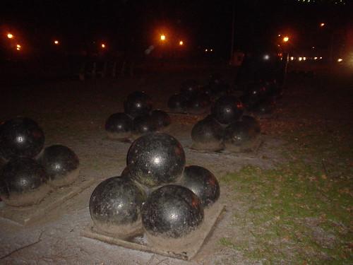 Cannon balls at night