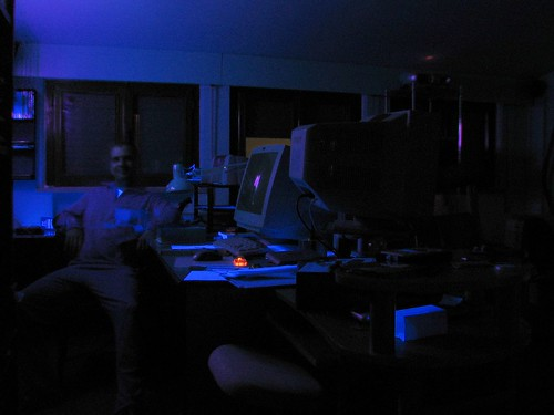 La stanza illuminata dal walledPC (e fantasma :-D )