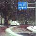 雪道カーブ