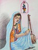 Meerabai meditating on her beloved Krishna (Radhikita) Tags: india art illustration drawing krishna krsna rajasthan vrindavan meerabai