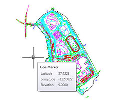 AutoCAD 2009 Geographic Location Marker