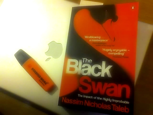 I'm talking about the book, The Black Swan. I felt instant connection