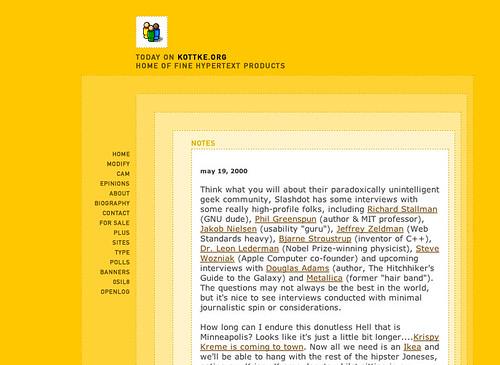 kottke.org, circa late 1999
