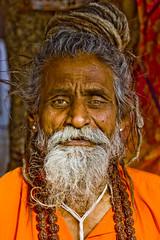The Monkey Baba (orange tuesday) Tags: travel portrait orange india face proud photoshop hair asian asia indian east kind holy kindness dreads baba rajasthan sadhu holyman 5photosaday revered puskhar portraitofface spitual digified